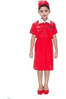 17b593a19c6 Buy KAKU FANCY DRESSES Polyester Air Hostress Costume Online at Low ...
