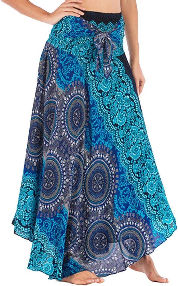 beautyjourney Falda de Playa de Bohemia para Mujer Faldas Floral ...