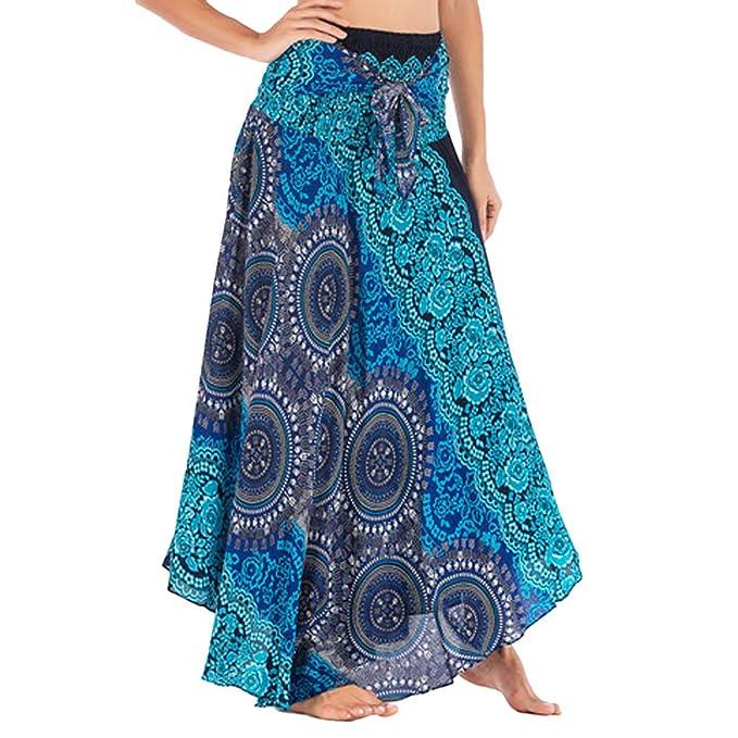 bb155efce FAMILIZO Faldas Largas Y Elegantes Faldas Cortas Mujer Verano Faldas Mujer  Invierno Primavera Vestidos Mujer Hippie Bohemia Gitana Boho Flores ...