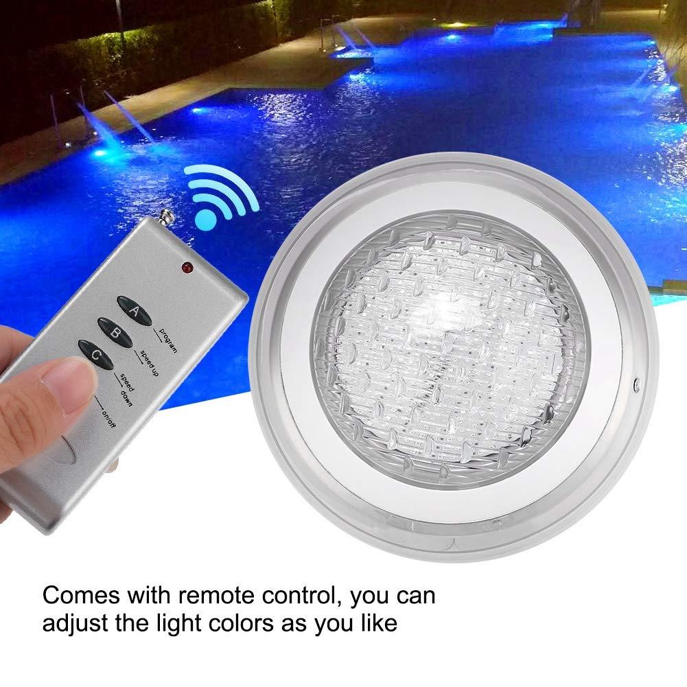 lampada da piscina impermeabile multicolore subacquea con telecomando luci da stagno Lampada da stagno subacquea RGB AC12V 35W 360LED