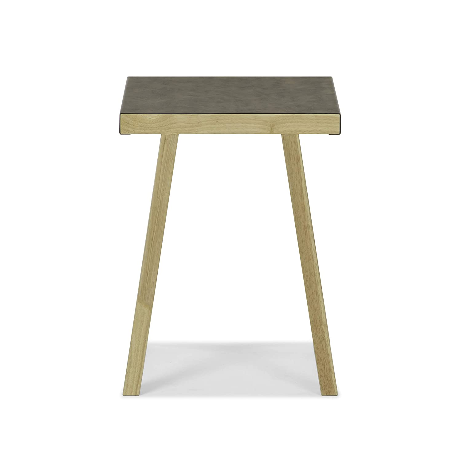 Side Living Bedroom Furniture Vibrant Products VP-010 Bedside Table Sunset Metal Wrapped Bronze Accent Table: use as End
