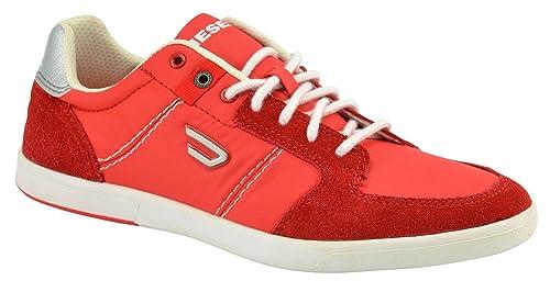 Diesel Zapatillas para Hombre Hutsky Red EUR 41, UK 7,5, US 8,5: Amazon.es: Zapatos y complementos