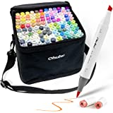 120-Color Alcohol Art Markers Set, Ohuhu Dual Tip, Brush & Chisel, Sketch Marker, Alcohol-based Brush Markers, Comes w/ 1 Ble