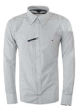 1644ccabd88e Tommy Hilfiger Custom-Fit Hemden (XL, Blau Weiss)  Amazon.de  Bekleidung