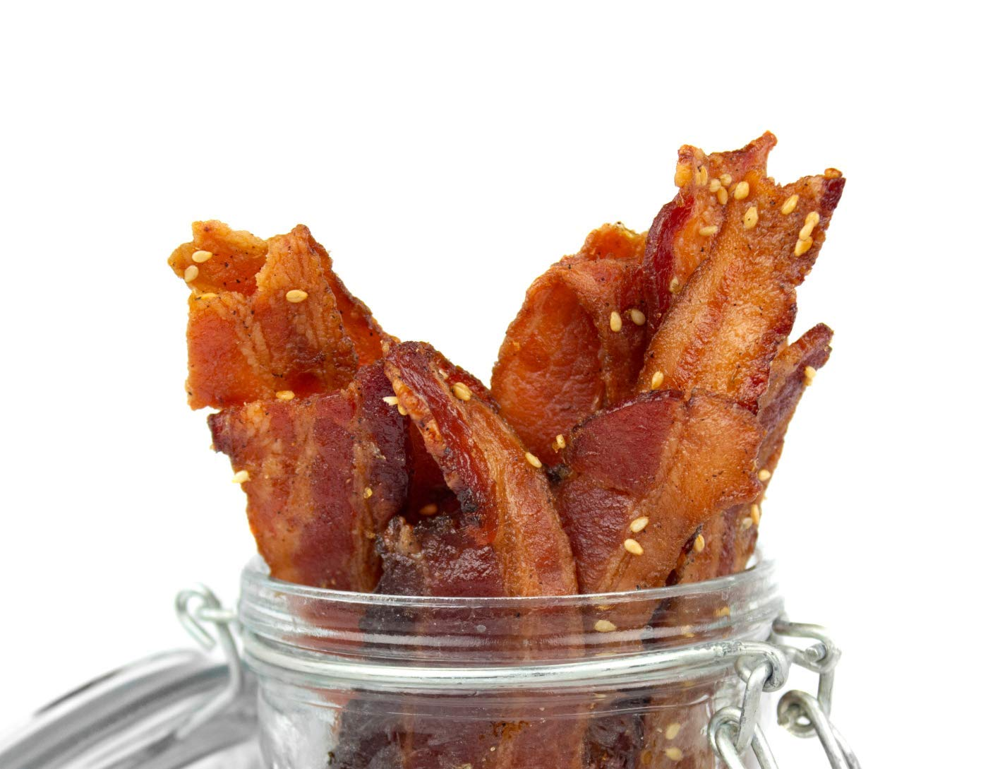 Delicious Uncured Real Bacon Jerky Hand Crafted Small Batch Korean BBQ Paleo Friendly MSG Free Nitrate & Nitrite Free (Korean BBQ Paleo, 3 pack)