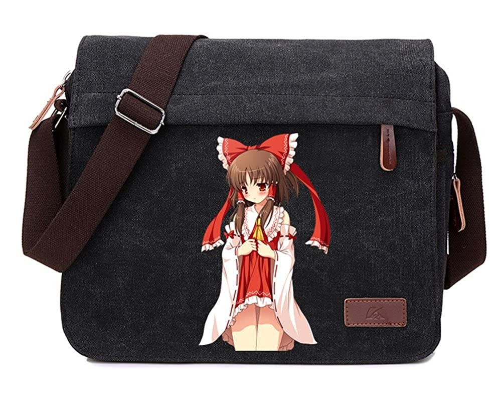 Gumstyle TouHou Project Anime Cosplay Canvas Messenger Bag Laptop Bags Schoolbag for Boys Girls