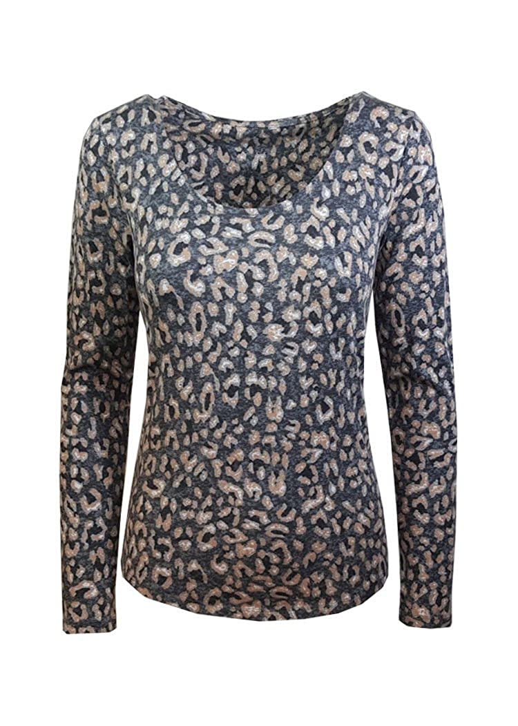 f901413923a1a3 Marks and Spencer Ladies Stunning Grey Mix TOP T-Shirt Animal Print M&S:  Amazon.co.uk: Clothing