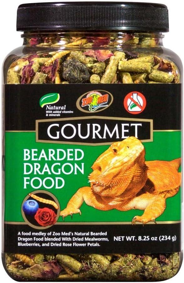 Zoo Med Gourmet Bearded Dragon Food, 8.25 oz each (Pack of 2)