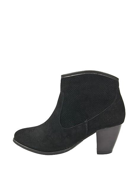 Alex Silva Botines Camperos Negro EU 35: Amazon.es: Zapatos y complementos