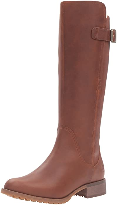 Timberland Women's Banfield Tall Medium Shaft WP Riding Boot, Wheat Forty,