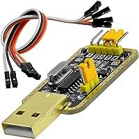 AZDelivery UART-TTL USB Adapter z konwerterem CH340G dla 3.3V i 5V z kablem jumper kompatybilny z Arduino i E-book w…
