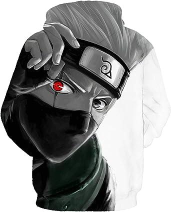 Naruto Sweats /à Capuche Unisexe: Content Cosplay JANDZ Dessins de Otaku Dessin anim/é Manga Impression 3D
