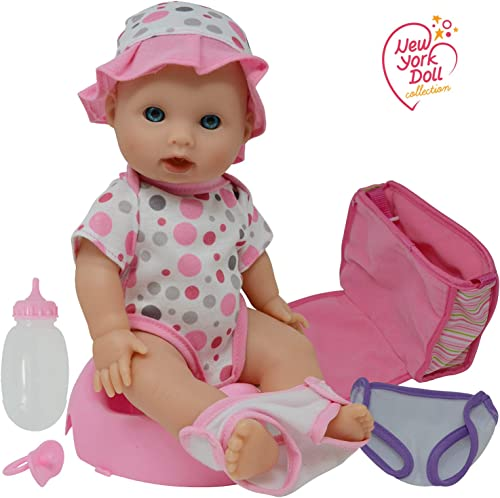 Drink and Wet Potty Training Baby Doll posable Dolls with Pacifier, Bottle, and Diapers
