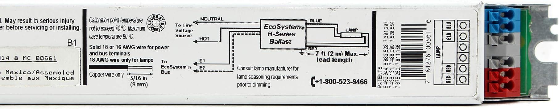 25W T8 Lutron EHDT825MU110 Fluorescent Dimming Ballast 1-Lamp F25T8 120//277V
