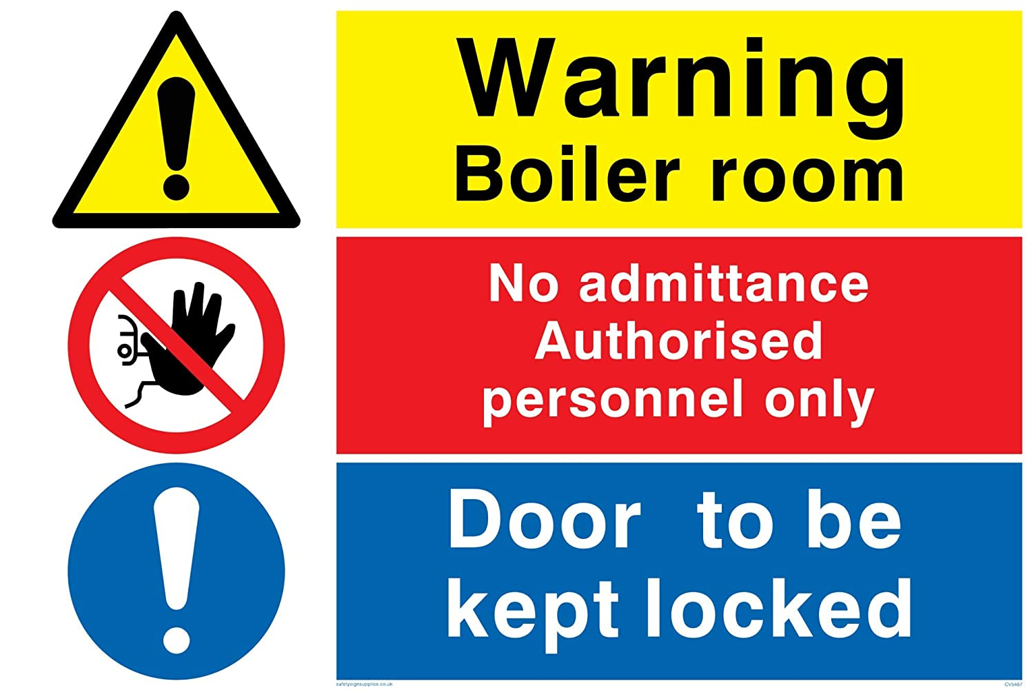 Gas Shut Off Sign Self Adhesive Sticker A4 200mm x 300mm