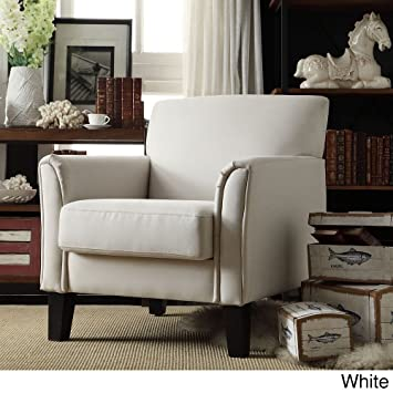 Etonnant TRIBECCA HOME Furniture Uptown Modern Accent Chair White Linen