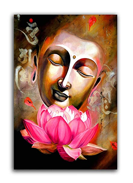 Tamatina Canvas Painting Lotus Buddha Modern Art Paintings Religious Canvas Art Amazon In Home Kitchen