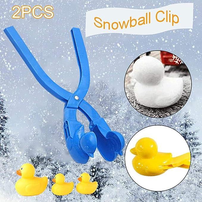zum Schnee Zuf/ällige Farbauswahl f/ür den Winter und drau/ßen ENticerowts Schnee-Clip Pinguin-Form