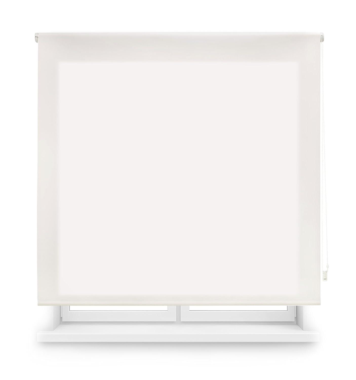 Blindecor Ara - Estor enrollable translúcido liso, 120 x 175 cm, color crudo: Amazon.es: Hogar
