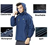 Rdruko Men'd Outdoor Hooded Jacket Casual Coat
