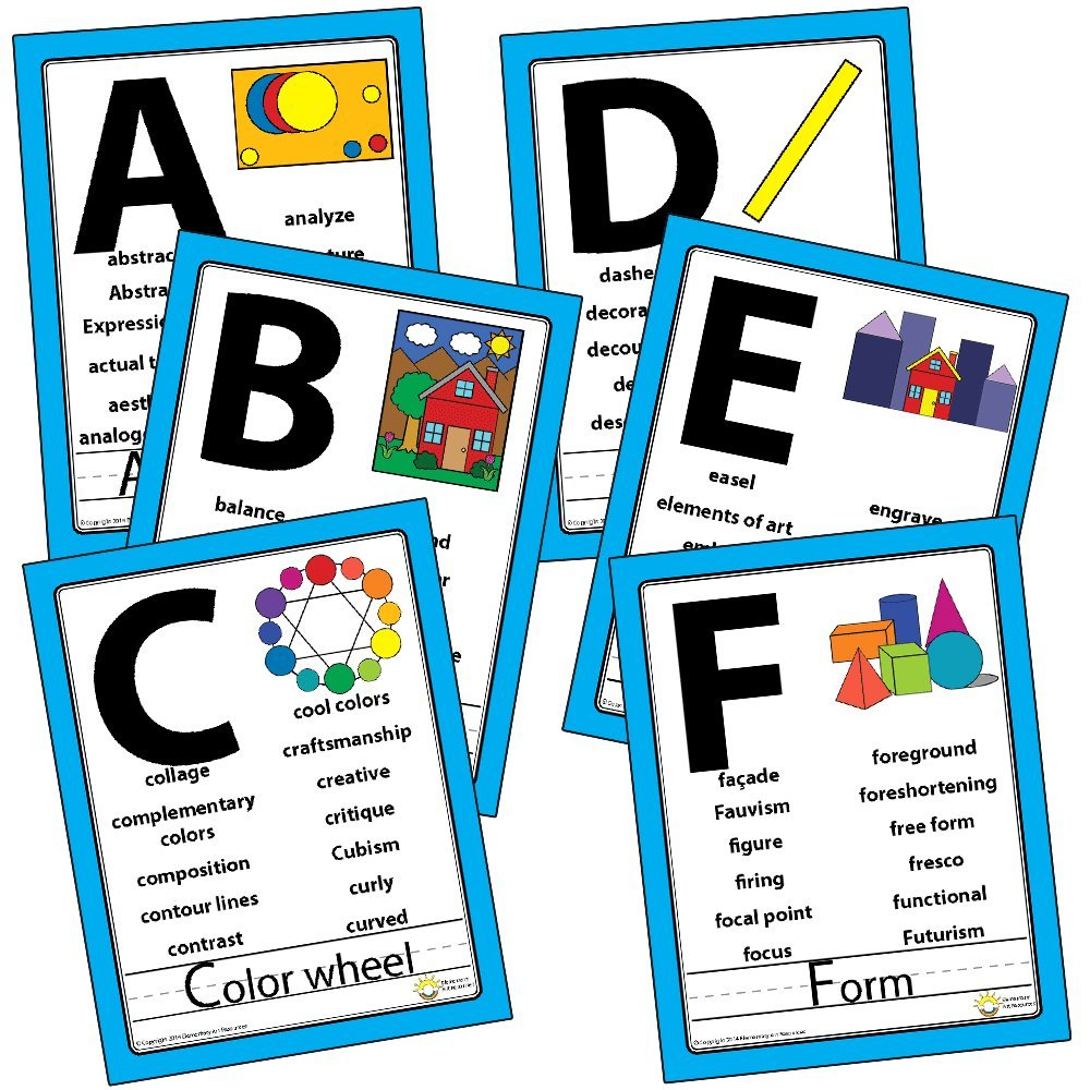 Vocabulary alphabetical word wall poster set for Bulletin board template word