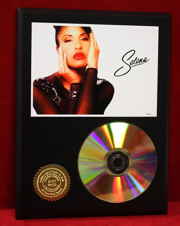 SELENA 24kt GOLD CD/DISC COLLECTIBLE RARE AWARD QUALITY PLAQUE