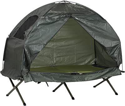 Outsunny Outdoor Cot Tent Combo Set