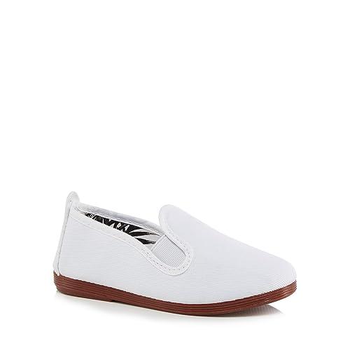 Flossy - Mocasines para niño Blanco Blanco Talla Unica, Color Blanco, Talla 11 años: Flossy: Amazon.es: Zapatos y complementos
