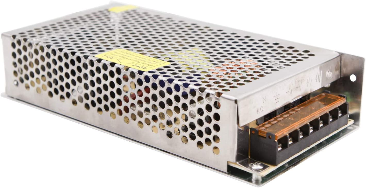 NCL Fuente de alimentación conmutada 24V 8.3A 200W Transformadores Controladores AC 110V / 220V a DC 24V 8.3A Caja de Aluminio Interior Transformadores LED para Tiras LED Pantalla CCTV Radio