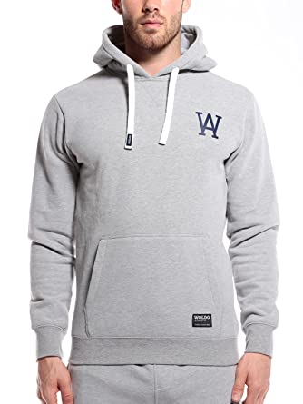 WOLDO Athletic Herren Hoodie Kapuzenpullover Pullover Sweatshirt (M,  Parros Grey) b06e14e17a