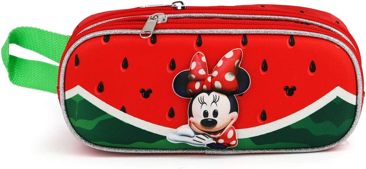 Minnie Mouse Sand/ía-Estuche Portatodo 3D Doble