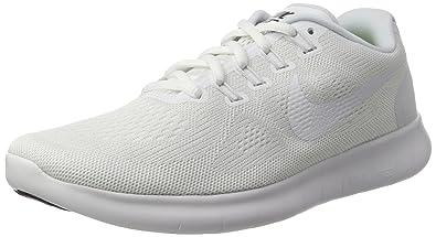 feffbfd1ae1c4 Nike Men s Free RN 2017 Running Shoe White Black Pure Platinum Size 8.5 M