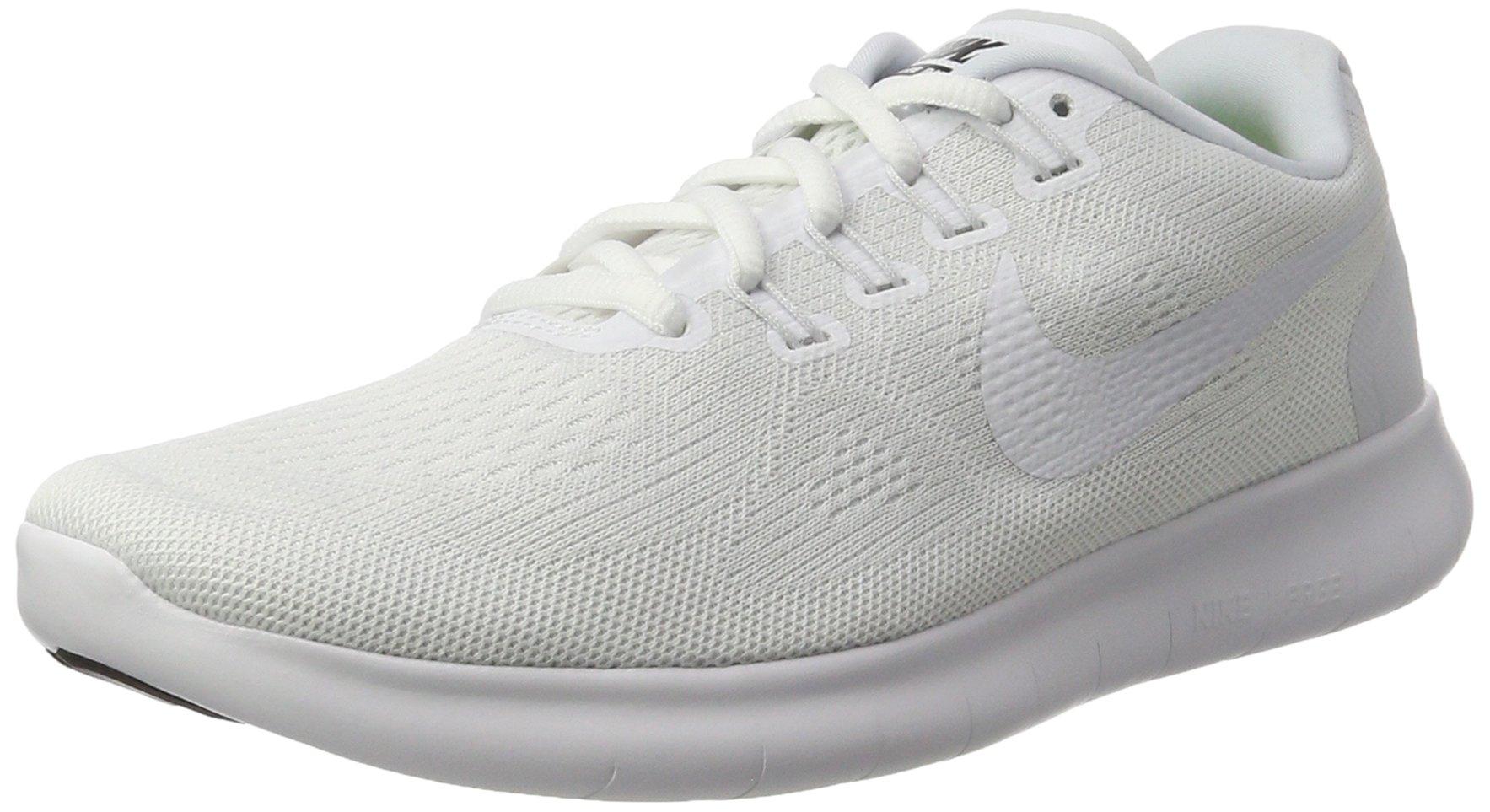 fc8fd2b6697 Galleon - NIKE Men s Free RN 2017 Running Shoe White Black Pure Platinum  Size 10 M US