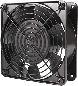 Hon&Guan 110V Cooling Fan, 120mm x 38mm High Speed Fan for DIY Cooling Ventilation Exhaust Projects