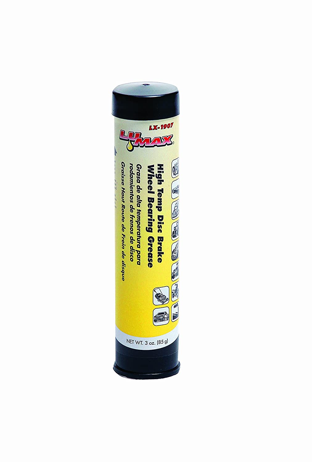 Lumax LX-1907 Blue High Temparature Disc Brake Wheel Bearing Grease Cartridge - 3 oz.