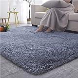 YOH UItra Soft Fluffy Bedroom Rugs, Modern Nonslip Shag Fur Area Rug Plush Furry Fur Living Room Floor Carpets for Kids…