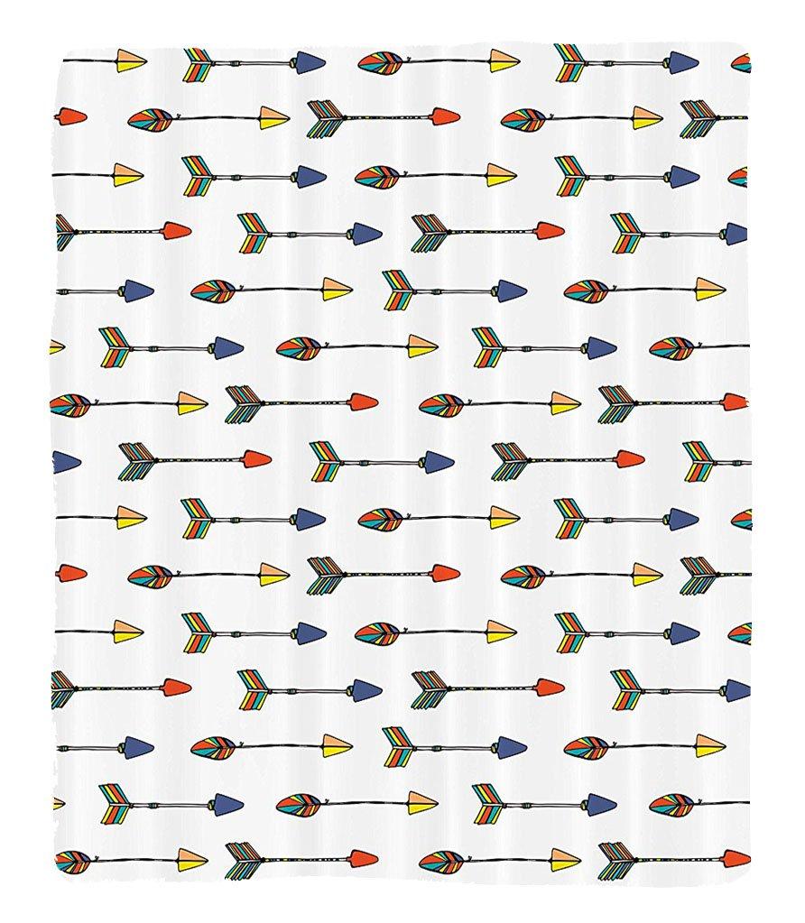 Chaoran 1 Fleece Blanket on Amazon Super Silky Soft All Season Super Plush Arrow Decor etEthnic Colorful Graphic with Tribal Indian H Drawn Arrow Retro Native Apache Folk Art Print Accessories Extra by chaoran