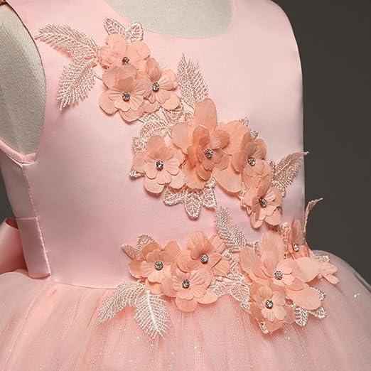 per occasioni speciali Tokkids 8-11 anni Comunione Vestito Elegante da Cerimonia Damigella