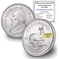 2017 ZA - Present (Random Year) South Africa 1 oz Silver Krugerrand Coin Brilliant Uncirculated w/Certificate of…
