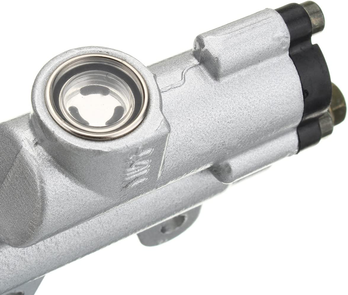 JenNiFer 8mm Banjo Bolt Silver Rear Hydraulic Brake Master Cylinder Fit PIT Dirt Bike ATV