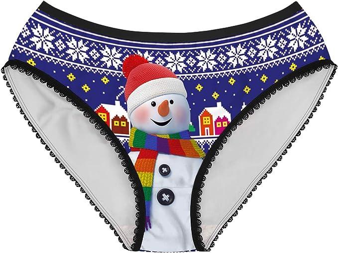 Weihnachten Herren Aufdruck Boxer Slip Shorts Mode Party Unterwäsche Unterhosen