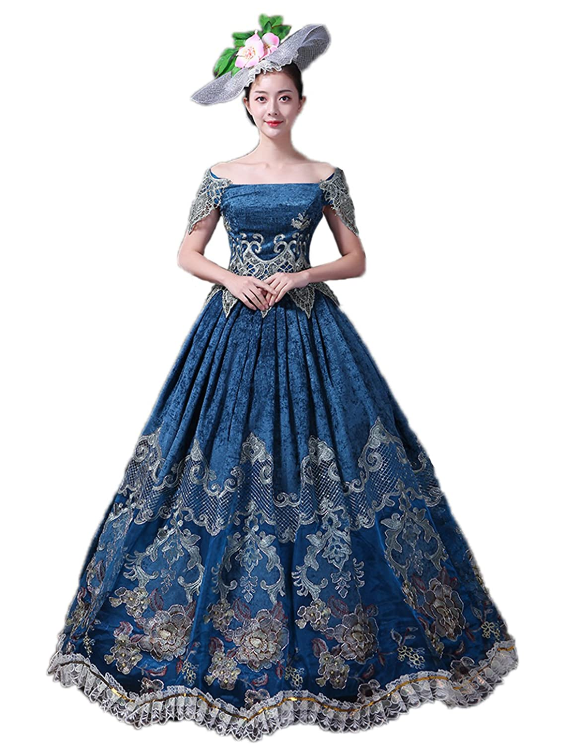 Victorian Dresses, Clothing: Patterns, Costumes, Custom Dresses Zukzi Womens Plus Size Elegant Recoco Victorian Dress Costume Ball Gowns $169.99 AT vintagedancer.com