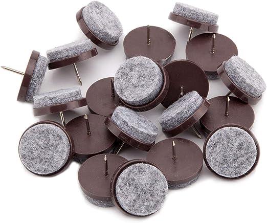 Professional NAIL GLIDES 2 Pins Furniture Glides 30x18mm Wool Felt Glides Felt Black
