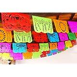 Cinco de Mayo Party Decorations, Papel Picado Banner, Over 50 feet Long, Multicolored tissue PAPER garland, Mexican Decorations, Weddings, Quinceneras, Birthdays, Fiesta party supplies, 5 de Mayo