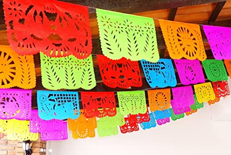 Amazon 5 pk cinco de mayo party decorations papel picado 5 pk cinco de mayo party decorations papel picado banner 60 ft long mightylinksfo