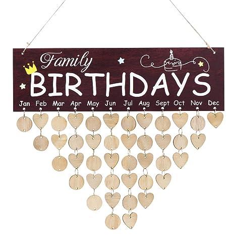 Immerwährender Geburtstagskalender DIY Kalender Geschenk für Haus Party Deko