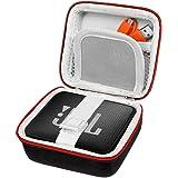 Pushingbest Difficile EVA trasporta la copertura del sacchetto di caso per la JBL Go, JBL GO 2 Bluetooth Speaker, tasca a rete per caricabatterie e cavi