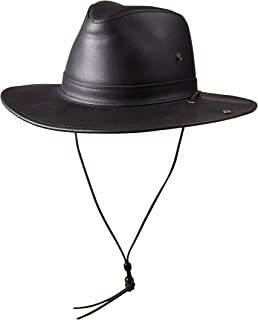 product image for Henschel Full Grain Leather Aussie with snap-Up Brim