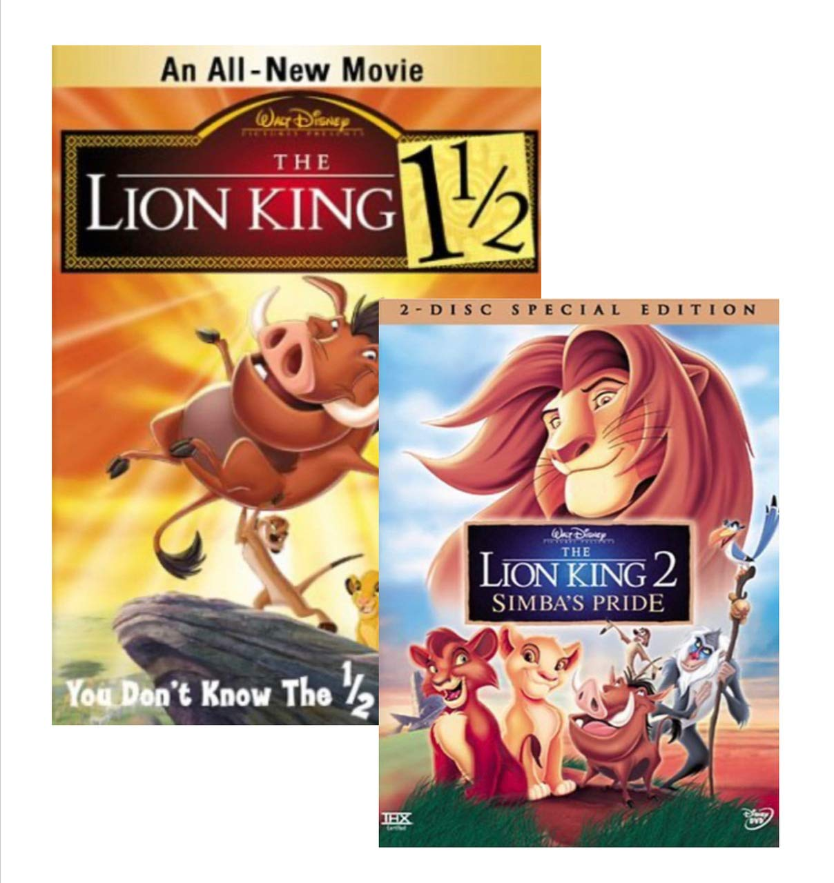 The Lion King 2: Simba's Pride / The Lion King 1 1/2 (DVD- 2 Disc Special Edition)(1998) (2 DVD Bundle)