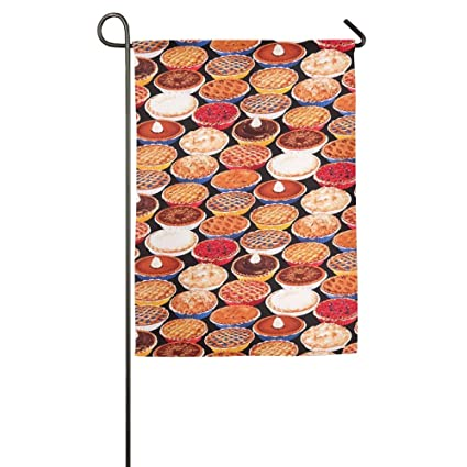 Colorful Apple Pie Food Season Porch Yard House Garden Flags 12 X 18  All Weather